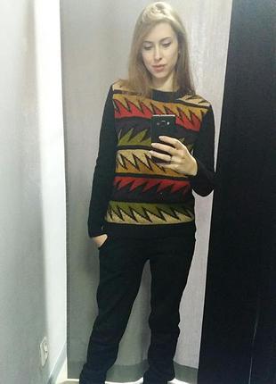 Яркая, теплая кофта, свитер, реглан1