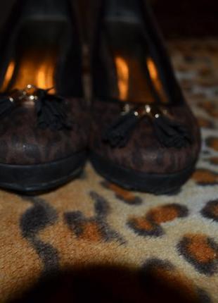 Леопардовые туфли river island