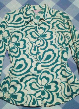 Шикарнейшая рубашка - блузка !!! 100% котон  monson
