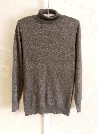 Серый свитер с люрексом atmosphere