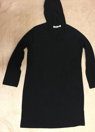 Спортивное , домашнее платье с капюшоном