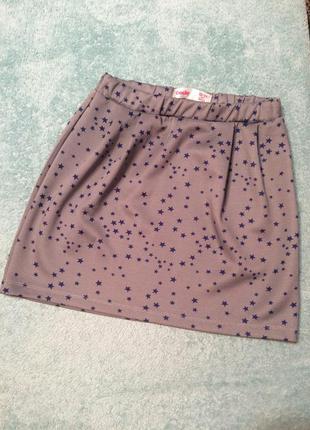 Серая юбка со звездочками gloria jeans