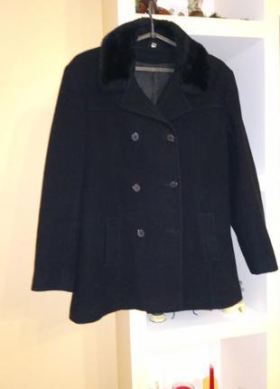 Пальто чорне кашемір