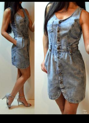Джинсовое платье деним