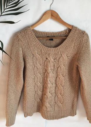 Теплый шерстяной свитер h&m