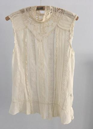 Молочная блузка massimo dutti