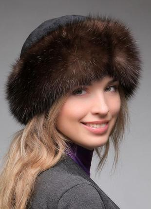 Шапка зимняя everitt с мехом стеганная