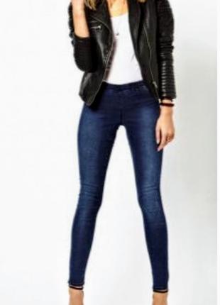 Клевые синие джинсы 👖 джигинсы узкие скини 76% коттон