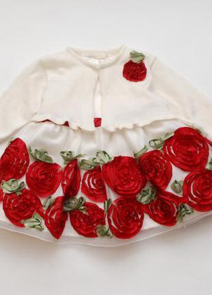6 м шикарное нарядный комплект: платье+болеро american princess