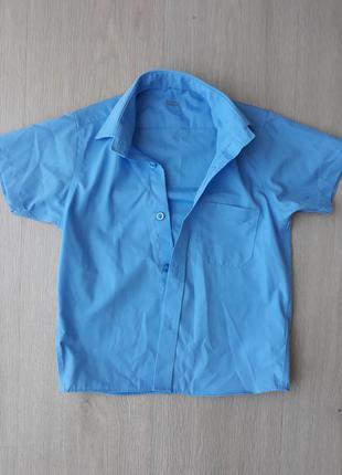 Рубашка на короткий рукав на мальчика фирмы marks& spencer