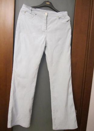 Классные брюки marks & spencer летние небесно-голубые(лен с котоном )