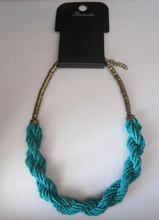 Колье ожерелье бусы peacocks новое
