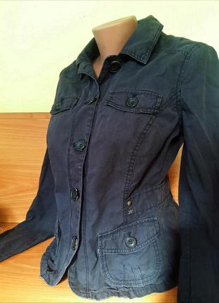 Куртка -пиджак демисезонная от mexx  хлопок/коттон на пуговицах
