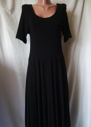 Базовое платье миди натуральная ткань