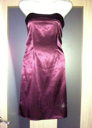Платье силуэт бордо