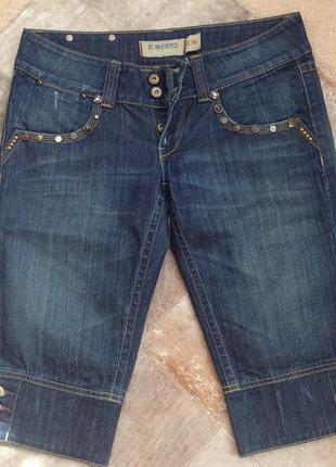 Джинсовые  шорты капри r.marks