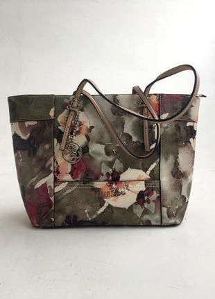 Новая сумка шоппер в цветочный принт guess оригинал