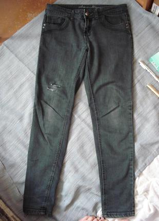 Стильные джинсы скинни denim@co р.10