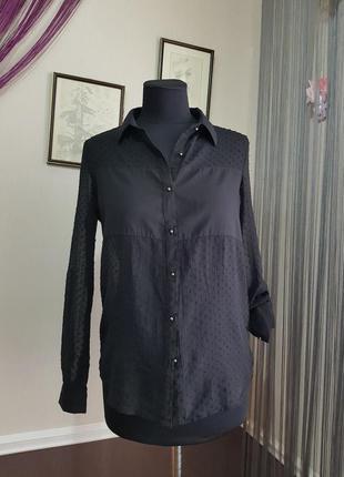 Черная блуза рубашка amisu