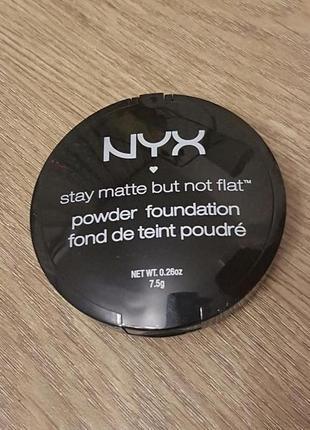 Матовая пудра nyx stay matte but not flat