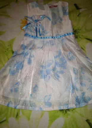 Детское платье сарафан для девочки f&d, 3-6 рр.
