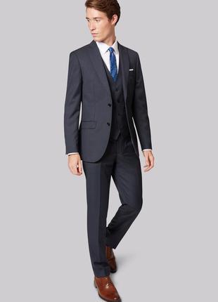 Бирка стильный синий классический пиджак french connection l-xl 42