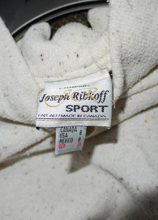 Махровый свитшот кремовый с карманами на молниях . овер сайз  . италия4 фото