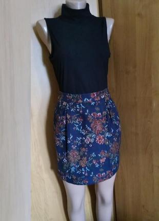 Жаккардовая юбка баллон river island р.uk12 идет на 46m