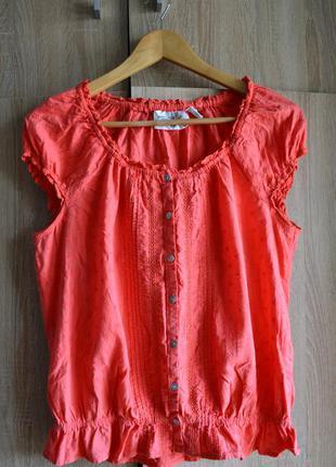 Симпатичная блуза с перламутровыми пуговками от h&m