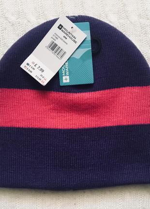 Демисезонная шапка для девочки mountain warehouse, размер 3-6 лет, 50-53