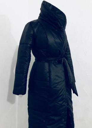 Суперское пальто классического кроя с ассиметричный низом на запах