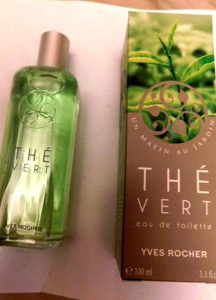 "Туалетная вода ""зеленый чай"" от yves rocher, оригинал, франция! 100 мл."