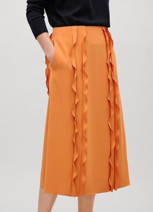 Шифоновая юбка с рюшами