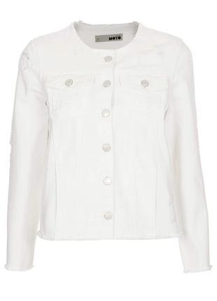 Новый джинсовый пиджак белого цвета