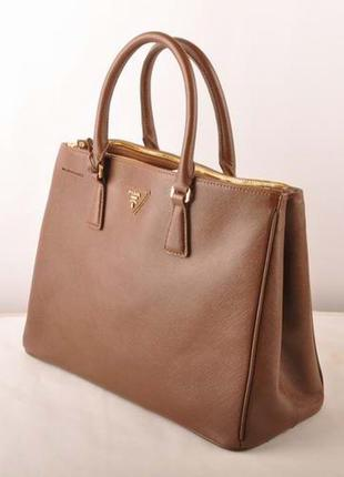 Женская сумка prada коричневая