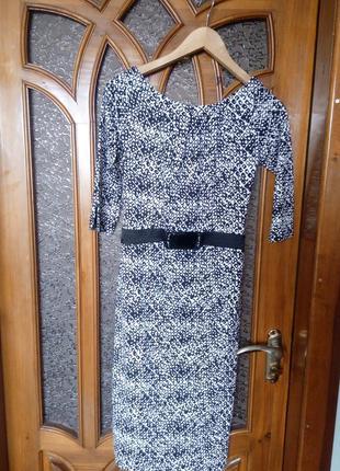 Нарядное контрастное платье