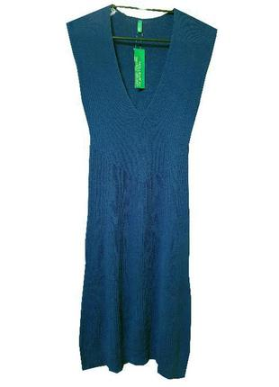 Стильное платье benetton цвета морской волны