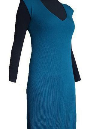 Стильное платье benetton цвета морской волны2 фото