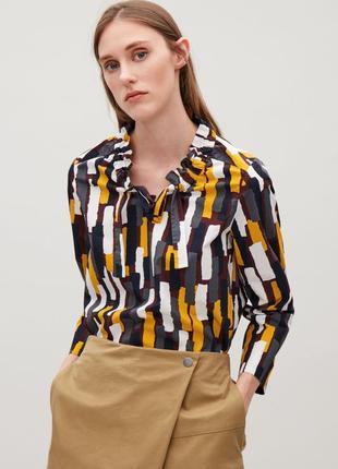 Блуза с геометрическим принтом cos