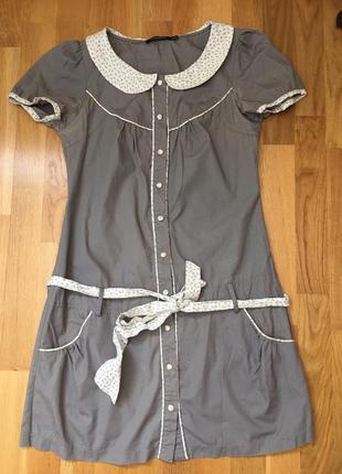 Платье летнее короткое миди туника