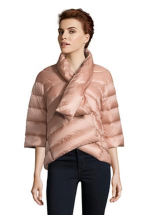 Новый. пуховик add кимоно/куртка на 46-48. пудровый. пух 100%