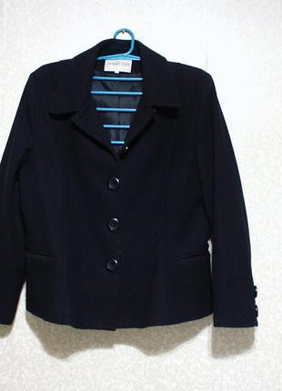 Пальто куртка р.54, charles clein, 80% шерсть драп женская качественная, как новая