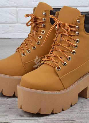 Ботинки женские на платформе campbell nirvana yellow boot style🔥