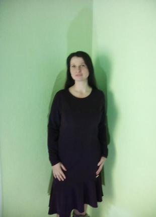 Платья трикотажные(48,50 размеры)/сукні нижче колін з довгими рукавами