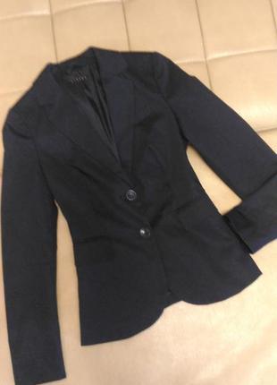 Пиджак sisley, италия, р.6-8, тёмно-синий