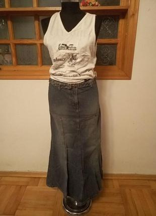 Юбка в пол, джинсовая юбка
