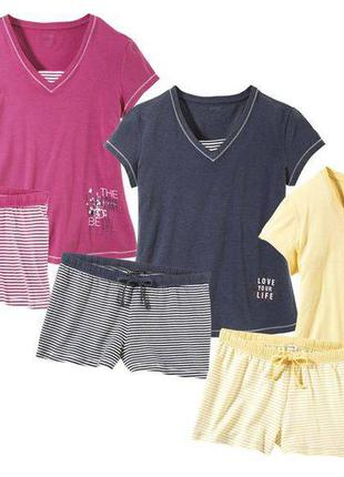 Красивая пижама домашний костюм, модал, футболка шорты, esmara германия