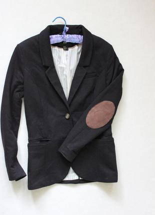 Пиджак с заплатками на локтях h&m