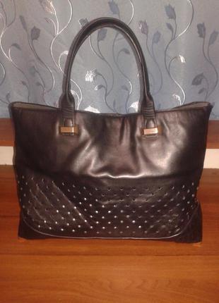 Вместительная сумка шоппер/ zara