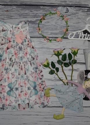 4 - 5 лет 104 - 110 см h&m обалденное фирменное очень нежное шифоновое платье плиссе